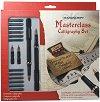 Калиграфски писалки с 4 накрайника - Masterclass - Комплект от 22 части -