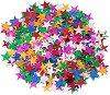 Декоративни фигурки - Разноцветни звездички - Опаковка от 15 g -