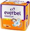 Дамски превръзки с крилца - Everbel Sensitive Light - Опаковка от 10 броя -
