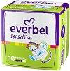 Дамски превръзки с крилца - Everbel Sensitive Normal - Опаковки от 10 ÷ 20 броя -
