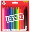 Цветни флумастери - Basic - Комплект от 15 броя -