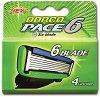 Dorco Pace 6 SXA 1040 - Резервни ножчета в опаковка от 4 броя -
