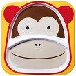 """Чиния за хранене с две отделения - Маймунка - От серията """"Zoo"""" за бебета над 6 месеца -"""