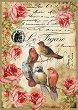 Декупажна хартия - Птици 034 - Формат А4 -