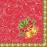 Салфетки за декупаж - Коледни камбанки - Пакет от 20 броя -