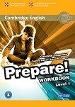 Prepare! - ниво 1 (A1): Учебна тетрадка по английски език с онлайн аудиоматериали : First Edition - Caroline Chapman, Annette Capel -
