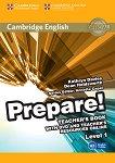 Prepare! - ниво 1 (A1): Книга за учителя по английски език с онлайн материали + DVD First Edition -