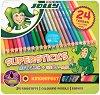 Цветни моливи - Kinderfest Mix - Комплект от 24 броя в метална кутия -