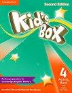 Kid's Box - Ниво 4: Учебна тетрадка + онлайн материали Учебна система по английски език - Second Edition -