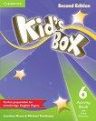 Kid's Box - Ниво 6: Учебна тетрадка + онлайн материали Учебна система по английски език - Second Edition -