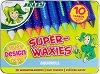 Акварелни восъчни пастели - Superwaxies Aquarell - Комплект от 10 цвята в метална кутия -