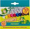 Восъчни пастели - Painty Permanent - Комплект от 10 цвята -