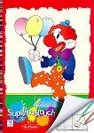 Книжка за оцветяване: Клоун с балони - книга