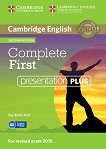 Complete First - Ниво B2: Presentation Plus - DVD : Учебна система по английски език - Second Edition - Guy Brook-Hart, Barbara Thomas, Amanda Thomas -