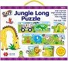 Джунгла - Дълъг детски пъзел с животни и звук -