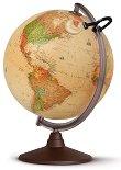 Светещ глобус - Marco Polo - С ефект на антична карта -