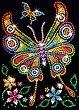 Направи сама картина с пайети - Пеперудата Амбър - Творчески комплект -
