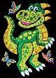 Направи сама картина с пайети - Динозавърчето Декстър - Творчески комплект -