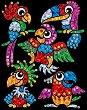 Направи сама картина с пайети и цветно фолио - Бебета папагали - Творчески комплект -