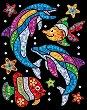 Направи сама картина с пайети и цветно фолио - Морски обитатели - Творчески комплект -