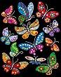 Направи сама картина с пайети и цветно фолио - Пеперуди - Творчески комплект -