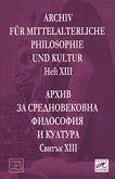 Archiv für mittelalterliche Philosophie und Kultur - Heft XIII -