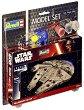 "Космически кораб - Millennium Falcon - Сглобяем модел от серията ""Revell: Star Wars"" - комплект с лепило и боички -"