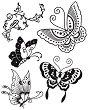 Гумен печат - Пеперуди - Размери 14 x 18 cm -