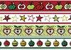 Декоративно тиксо - Коледни ябълки - Комплект от 4 броя -