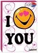"""I love you - Мини пъзел от серията """"SmileyWorld"""" - картичка"""