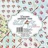 Хартии за скрапбукинг - Малки рози - Комплект от 18 листа