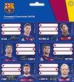Етикети за тетрадки - ФК Барселона - Комплект от 18 броя - продукт
