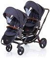 Комбинирана бебешка количка за близнаци - Zoom: Style Street - С 4 колела -