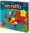 """Карта на Европа - Пъзел с части в нестандартна форма от серията """"Geo puzzle"""" -"""
