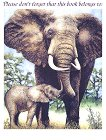 Етикети за надписване на книги - Слон -