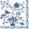 Салфетки за декупаж - Сини цветя - Пакет от 20 броя -
