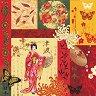 Салфетки за декупаж - Япония - Пакет от 20 броя -