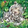 Салфетки за декупаж - Бели тигри - Пакет от 20 броя -