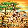 Салфетки за декупаж - Жирафи - Пакет от 20 броя -