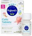 Таблетки за облекчение при колики - Hyland's Baby Colic Tablets - 125 броя в опаковка -