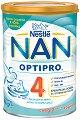 Висококачествена обогатена млечна напитка за малки деца - Nestle NAN OPTIPRO 4 - Метална кутия от 400 g или 800 g за след 24 месеца -