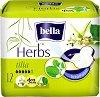 Bella Herbs Tilia Deo Fresh - Дамски превръзки с крилца в опаковка от 12 броя -