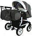 Бебешка количка за близнаци - Duo Stars - С 4 колела -