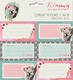 Етикети за тетрадки - Kimmy - Комплект от 18 броя -