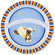 Детска меламинова чиния за хранене - Агънцето Stanley - За бебета над 6 месеца -