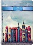 Ученическа тетрадка със спирала - Fairytale : Формат А4 с широки редове - 1 или 5 броя -