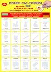 Първите 100 най-важни думи на български и немски език Речник със стикери -