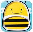 """Чиния за хранене с две отделения - Пчеличка - За бебета над 6 месеца от серията """"Zoo"""" -"""