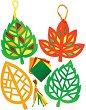 Декорирай сам - Есенни листа - Творчески комплект -