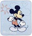 Бебешко одеяло - Мики Маус - Размер 110 x 140 cm -